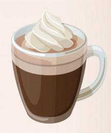 矢量拿铁咖啡EPS