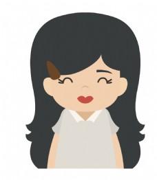 卡通可爱美女EPS