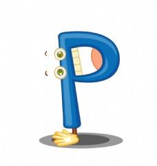 矢量英文字母P