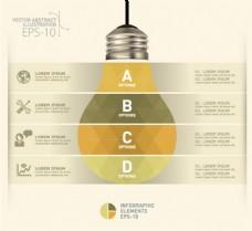 灯泡图表背景素材