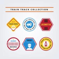 六个火车标志logo设计