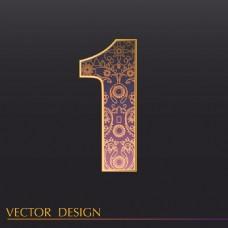 数字1装饰图案背景