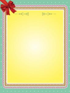 蝴蝶结花纹边框背景