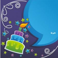 蓝色星形卡通蛋糕背景