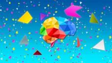 彩色三角形几何背景图片