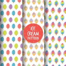 美妙的手绘风格彩色冰淇淋图案
