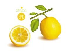新鲜柠檬背景图