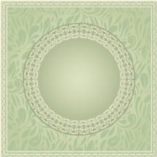 简约绿色花纹背景