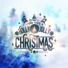 雾气圣诞节精美卡通矢量海报素材文件