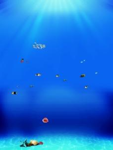 唯美海底背景