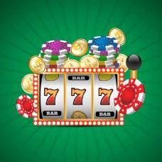 各种赌场游戏的绿色背景