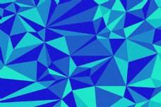 蓝色低多边形图片