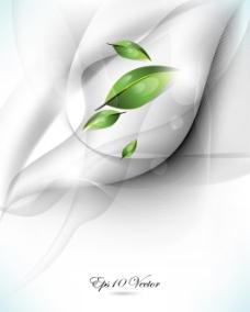 绿叶水珠梦幻背景