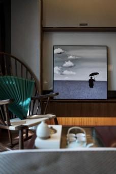 新中式卧室简装效果图