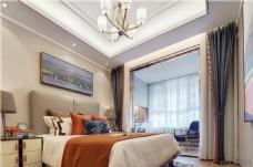 现代简约卧室装修效果图