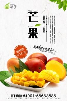 新鲜水果芒果海报