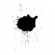 黑色水墨晕染元素