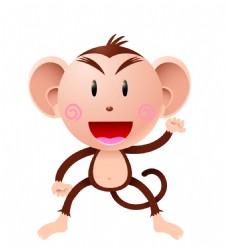 矢量卡通猴子EPS