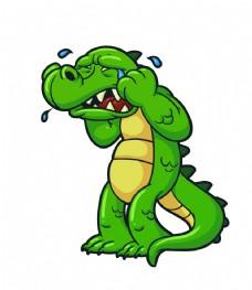 矢量鳄鱼表情eps图片