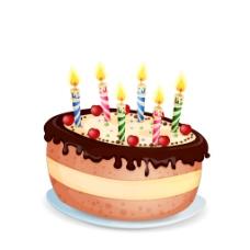 生日蛋糕甜蜜元素