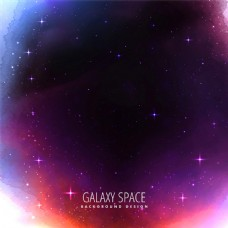紫色水彩宇宙空间矢量素材