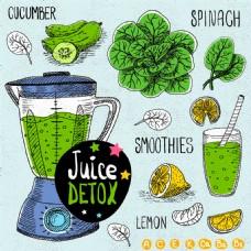 卡通蔬菜汁图片