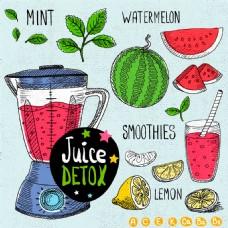 卡通水果榨汁机图片