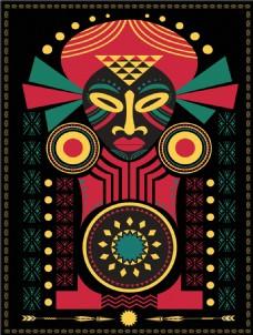 非洲民族风花纹插画