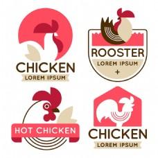 公鸡装饰图形标志logo矢量素材