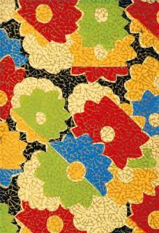 花卉图案抽象背景图片