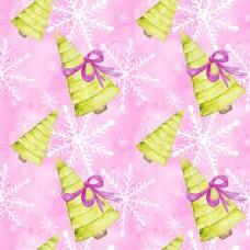 圣诞树雪花背景图片