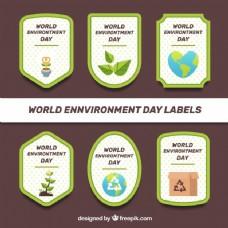 世界环境日标签与点背景收集