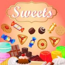 甜品背景素材