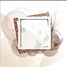 褐色水墨相框背景