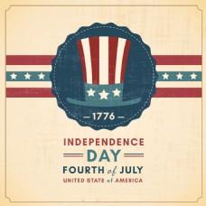 美国独立日抽象图形背景