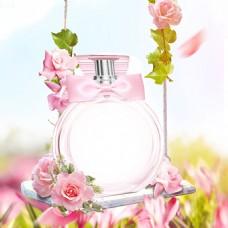 花朵叶子花瓣秋千唯美广告背景素材