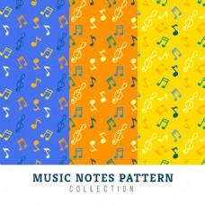 美妙的彩色音乐符号装饰图案