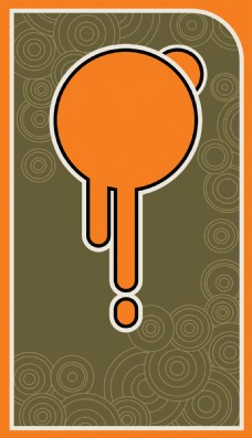 灰色圈圈橘色圆形背景