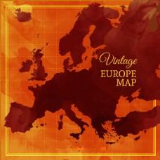 复古风格欧洲地图背景