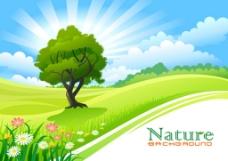 绿色草地背景素材