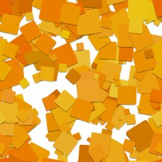 橙色正方形叠加效果装饰图案背景