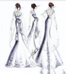 紧身花边长裙设计图