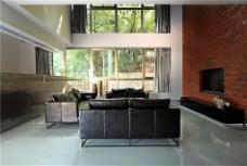现代客厅落地窗设计图