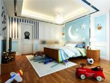 儿童卧室MAX模型设计