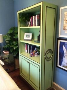 美式室内绿色柜子设计图
