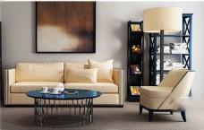 简约客厅家具模型设计