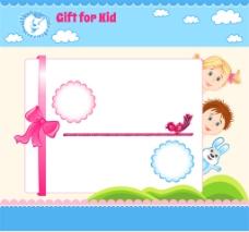 儿童免子展板图片