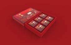 月饼盒-红色