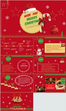 扁平化圣诞节ppt模板