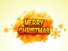水彩金色圣诞节精美卡通矢量海报素材文件